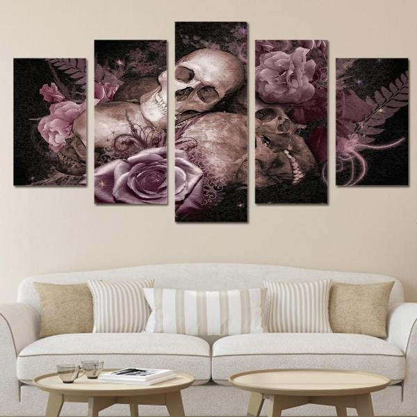 Jasper 5 Piece Skull Wall Art