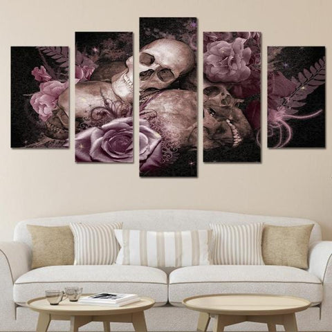 Image of Jasper 5 Piece Skull Wall Art