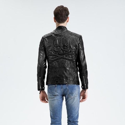 Image of Hendrix Skull Motorcycle Jacket