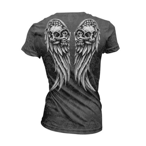 Image of Ava Skull Wing T Shirt