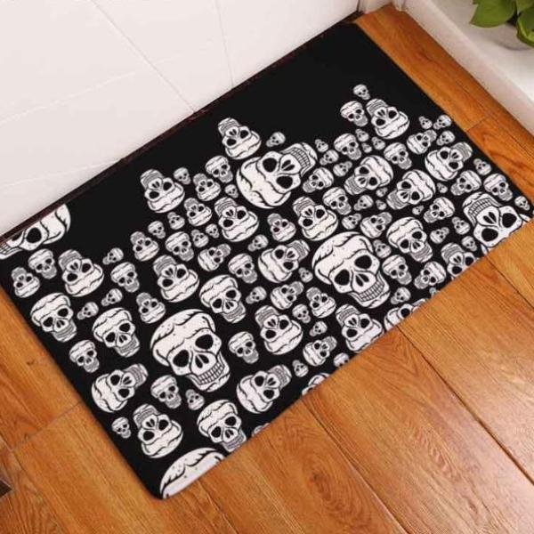 Nova Waterproof Skull Door Mat