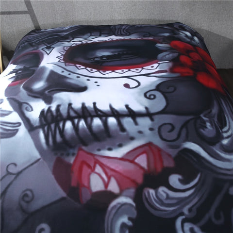 Harley Sugar Skull Bedding Set
