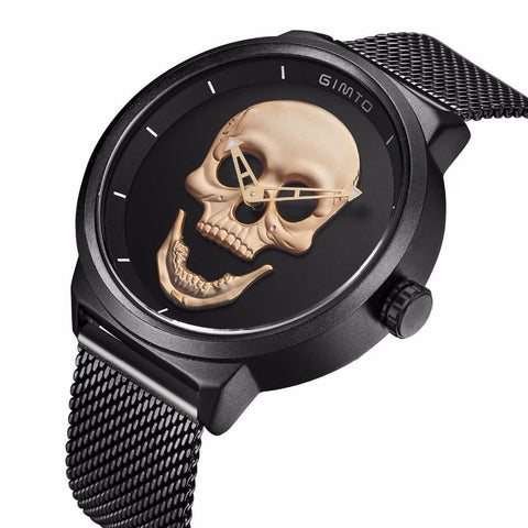 Image of Dyrk Luxury Quartz Skull Watch