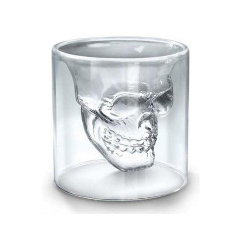 Crow Skull Glass