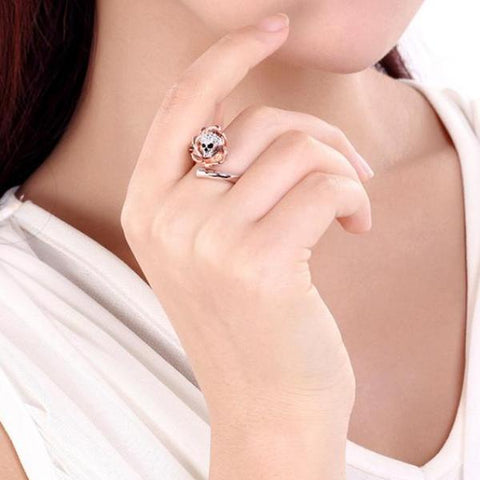 Image of Imogen Skull Rose Ring