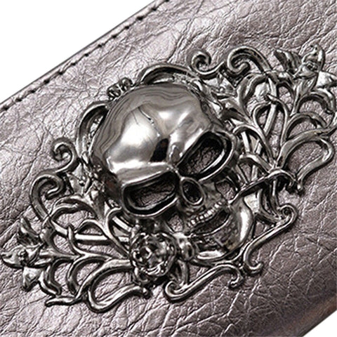 Image of Skyla Fashion Metallic Skull Wallet