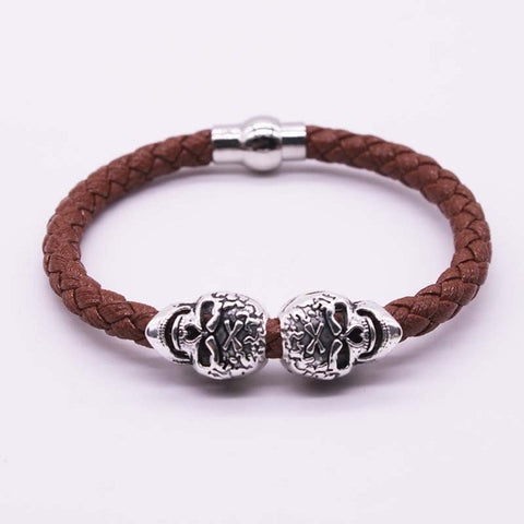 Image of Reid Braided Skull Bracelet