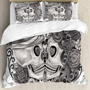 Draven Skull Couple Duvet Set