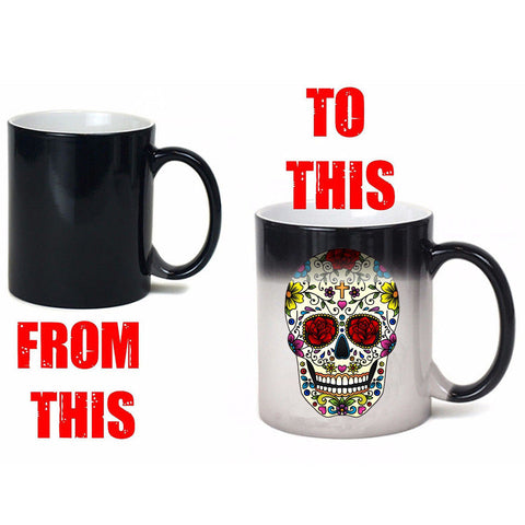 Image of Hawk Skull Heat Color Changing Mug