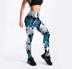 Adia Skull Butterfly Leggings