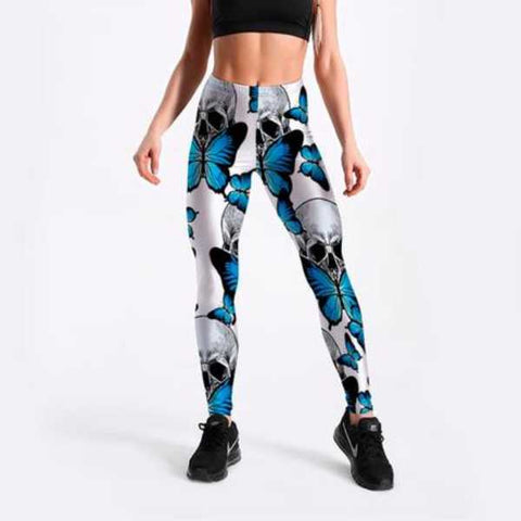 Image of Adia Skull Butterfly Leggings
