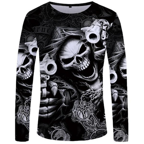 Devon Long Sleeve Skull Top