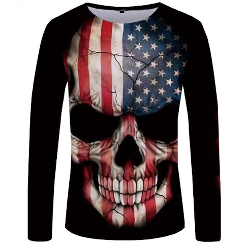Image of Hawk Stars And Stripes Skull Top