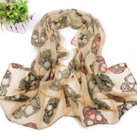 Ione Fashion Skull Scarf