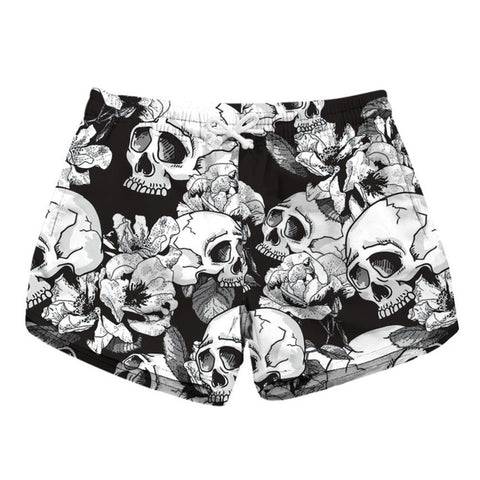Image of Danica Skull Flower Shorts