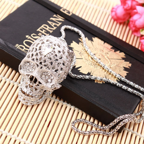 Image of Ariel Skull Pendant Necklace
