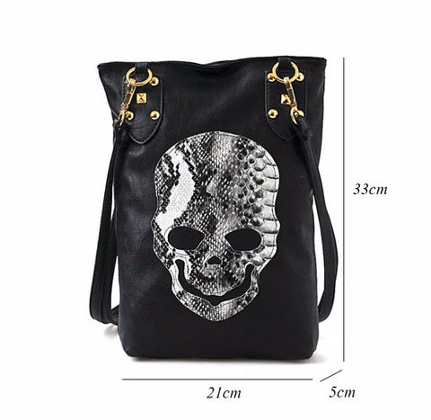 Image of Marley Skull Face Shoulder Bag