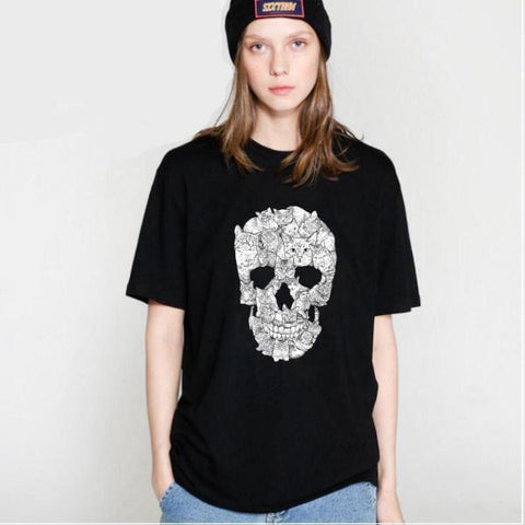 Image of Zeisha Womens Skull Tee