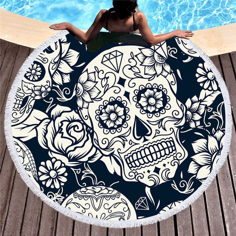 Image of Malin Black And White Beach Towel