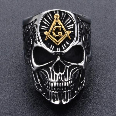 Terry Masonic Skull Ring