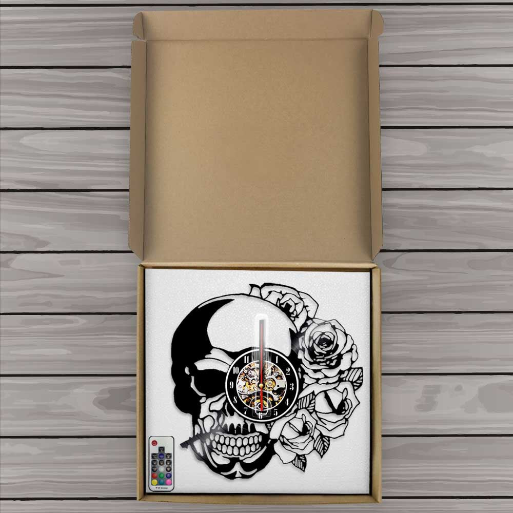 Zander Fashion Skull Clock