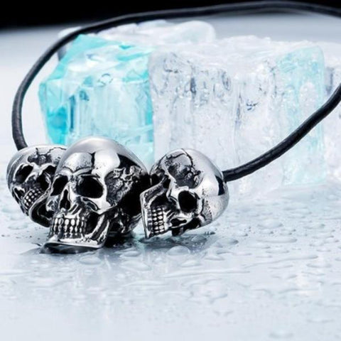Image of Hadley Punk Skull Necklace
