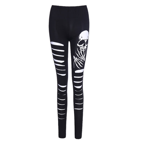 Thea Punk Skull Leggings