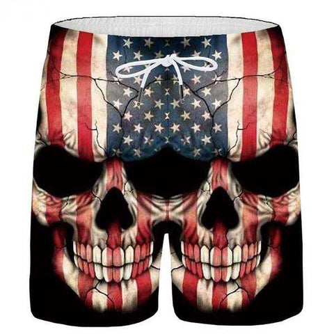Image of Kane Mens Skull Shorts