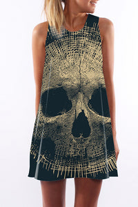 Dallas Skull A Line Mini Dress
