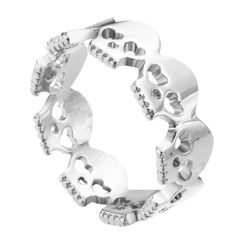 Image of Reid Mens Gothic Skull Ring