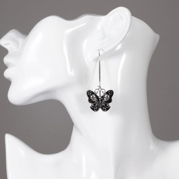 Eden Butterfly Skull Earrings
