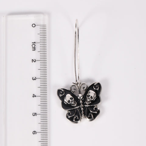 Image of Eden Butterfly Skull Earrings