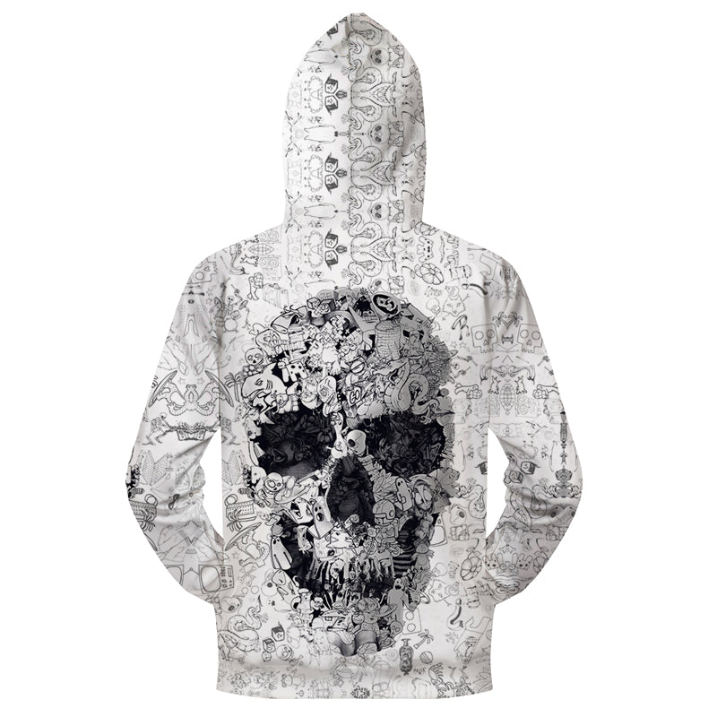 Blair Printed Zip Up Hoodie