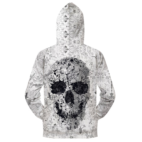 Image of Blair Printed Zip Up Hoodie