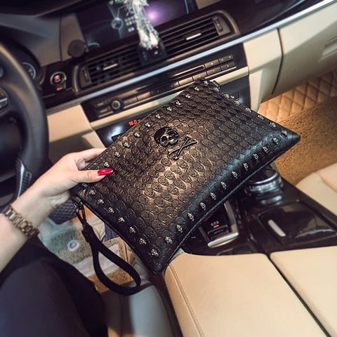 Image of Gwyn Womens Skull Clutch