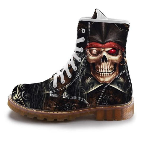 Image of Ajax Pirate Skull Print Boots