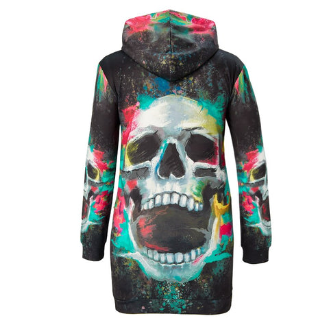 Image of Riley Womens Hooded Skull Dress