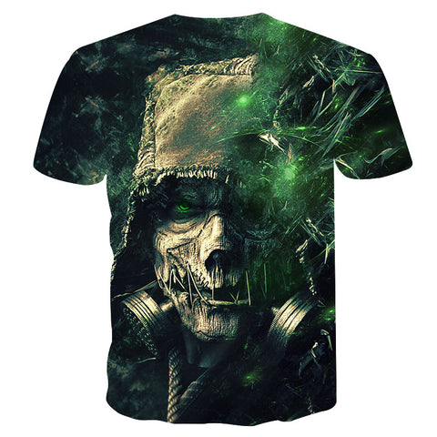 Image of Marshall 3D Skull Print T Shirt