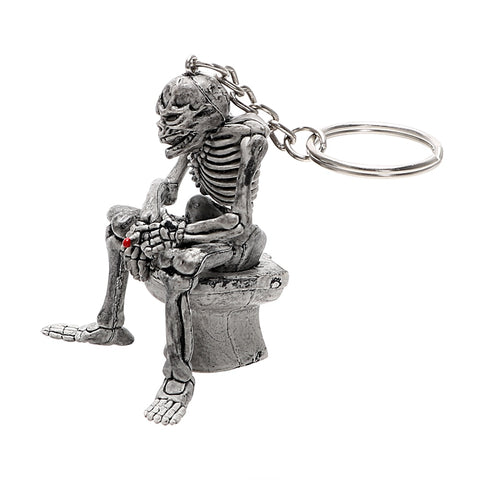 Image of Chet Skull Toilet Key Chain