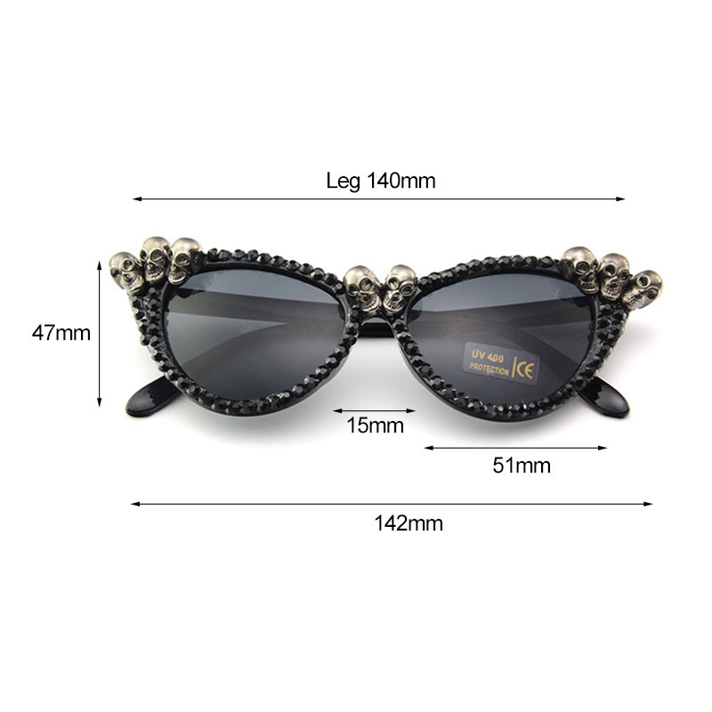 Micah Womens Punk Skull Sunglasses