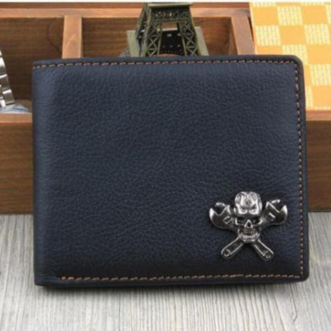 Image of Jack Skull Leather Wallet