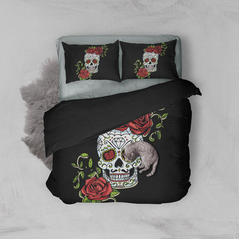 Image of Lazlo Skull Duvet Set