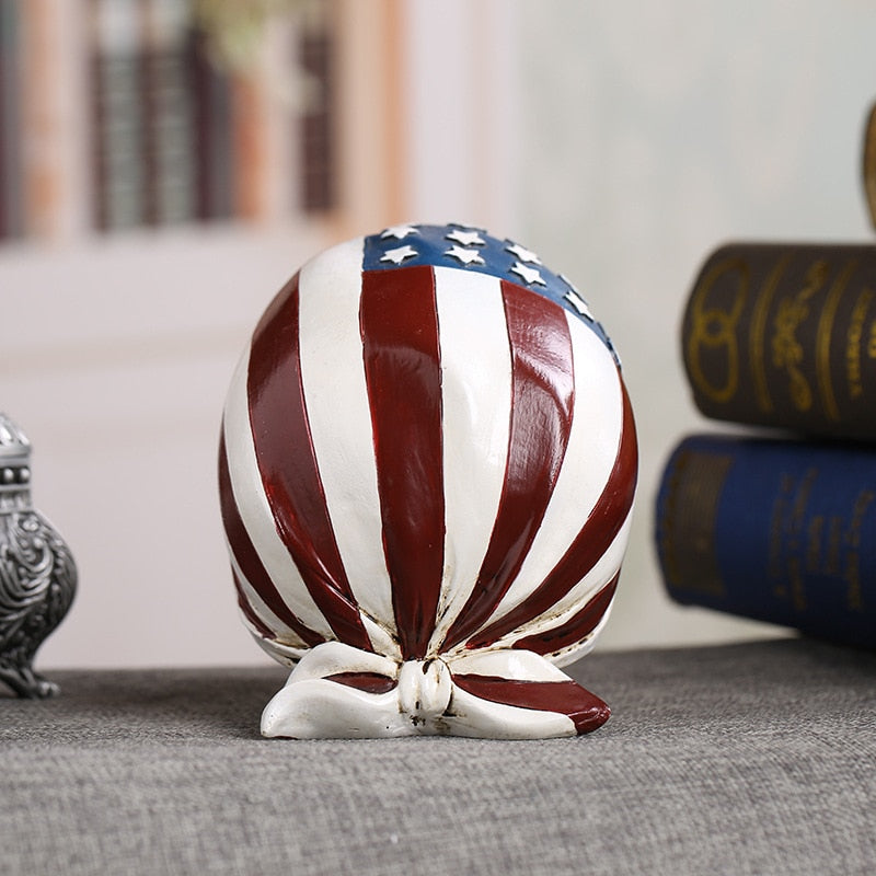 Balin American Flag Resin Skull