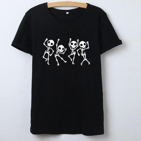 Image of Cacey Dancing Skull Tee