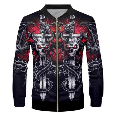 Image of Cason Mens Skull Jacket