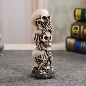 Wyatt Resin Skull Ornament