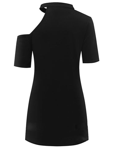 Image of Storm One Shoulder T Shirt Dress