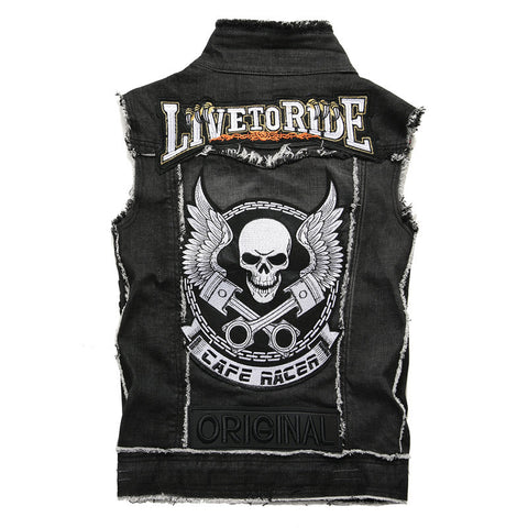Sutton Mens Denim Vest