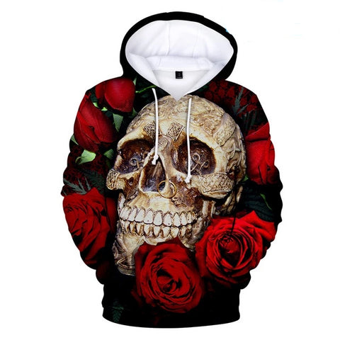 Image of Keir Skull And Rose Hoodie