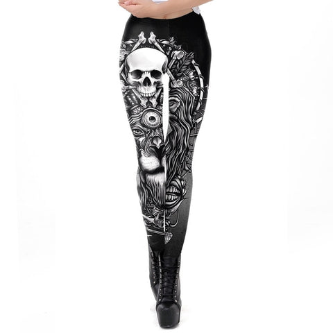 Kali Skull Design Leggings